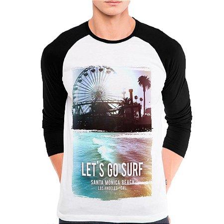 Camiseta Manga Longa Lets Go Surf