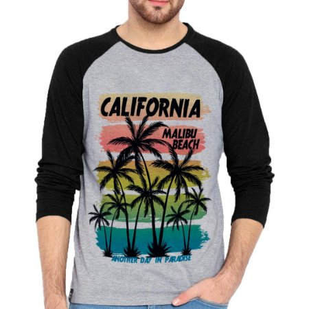 Camiseta Manga Longa California Malibu