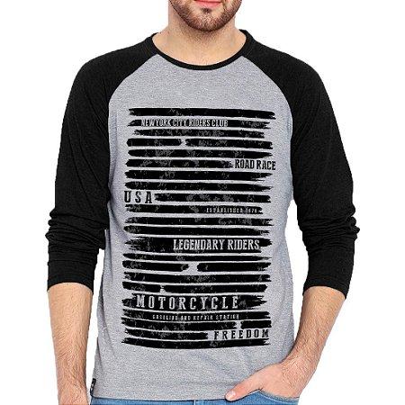 Camiseta Manga Longa U.S.A