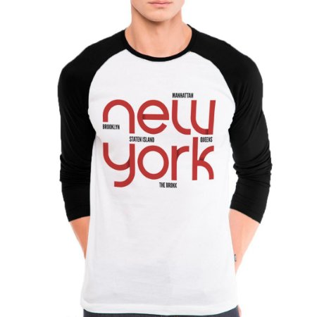 Camiseta Manga Longa New York