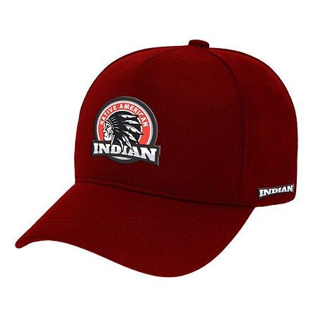 Boné Aba Curva Indian Bordo