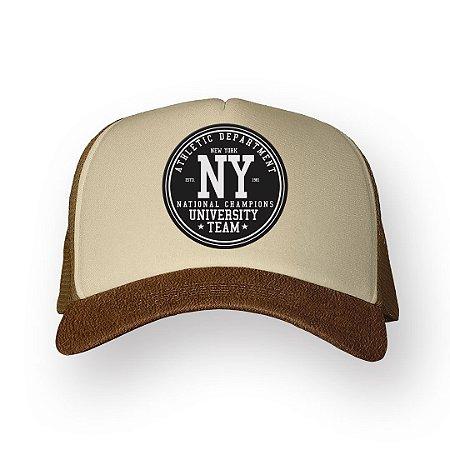 Boné Trucker NY Camel