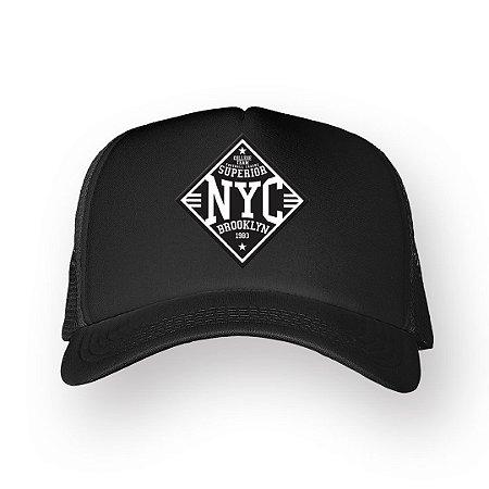 Boné Trucker Superior NYC Preto