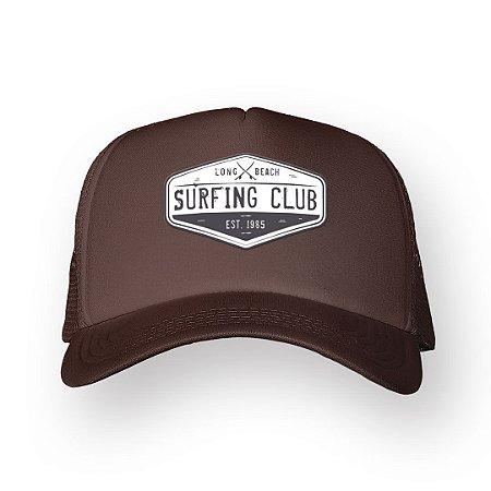 Boné Trucker Surfing Club Marrom