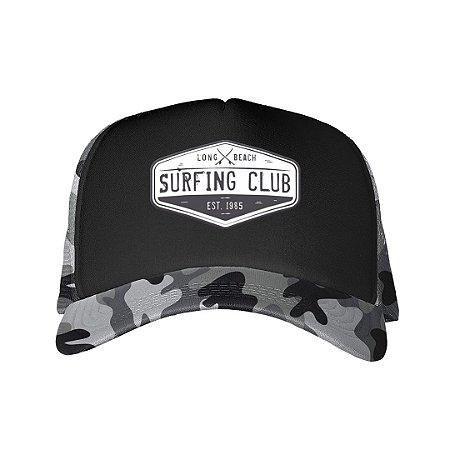 Boné Trucker Surfing Club Camuflado