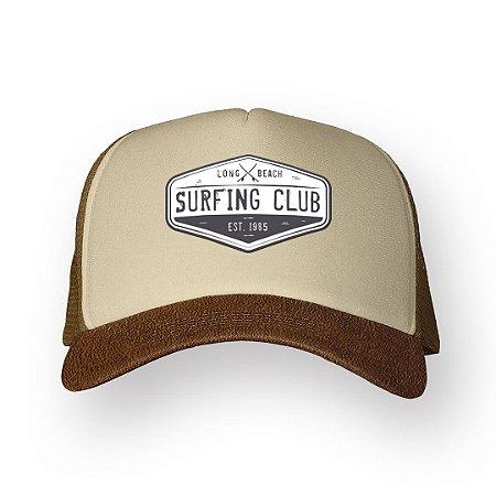 Boné Trucker Surfing Club Camel