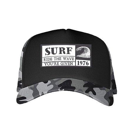 Boné Trucker Surf Camuflado