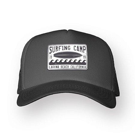Boné Trucker Surfing Camp Chumbo