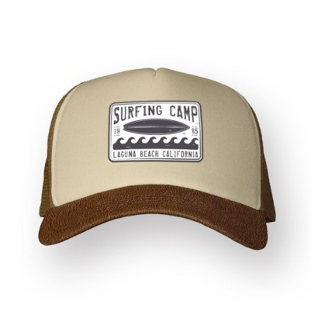 Boné Trucker Surfing Camp Camel