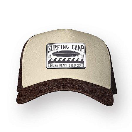 Boné Trucker Surfing Camp Café