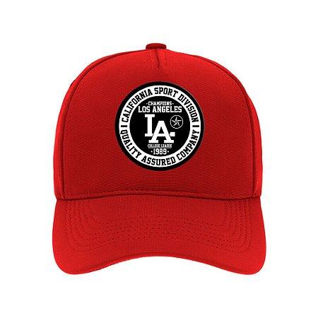 Boné Aba Curva Los Angeles Vermelho
