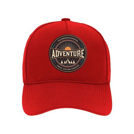 Boné Aba Curva Adventure Vermelho