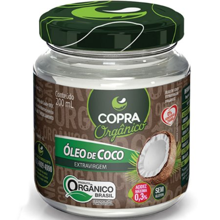 Oleo De Coco Organico Extra-Virgem 200Ml Copra