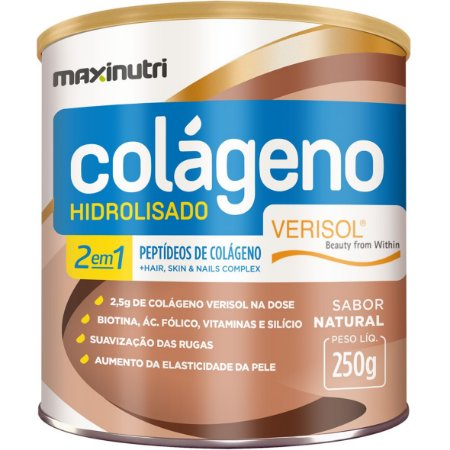 Colageno 2 Em 1 Zero Ac Verisol Natural 250G Maxinutri
