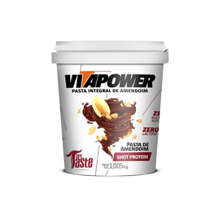 Pasta Integral 1.005Kg De Amendoim Shot Protein Vitapower