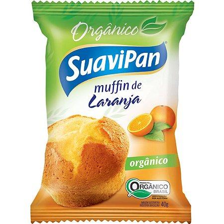 Muffin Laranja Organico 40G Xdisplay 12Un Suavipan