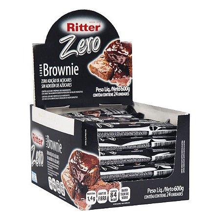 Barra Cereal Brownie Choc Zero Ac 25G 24Un Ritter