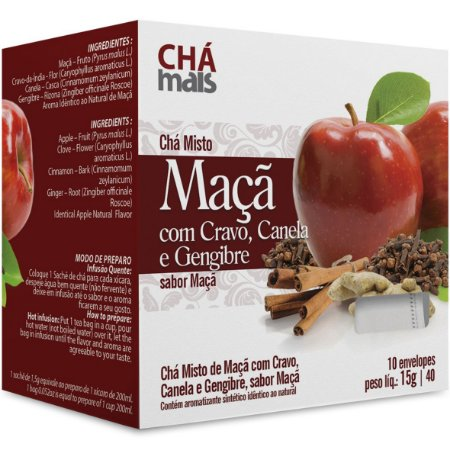 Cha Maca/Cravo/Canel/Gengib 10Env 15G Cha Mais