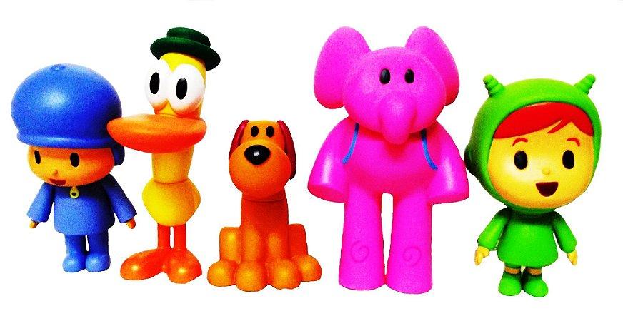 Turma do Pocoyo com 5 bonecos