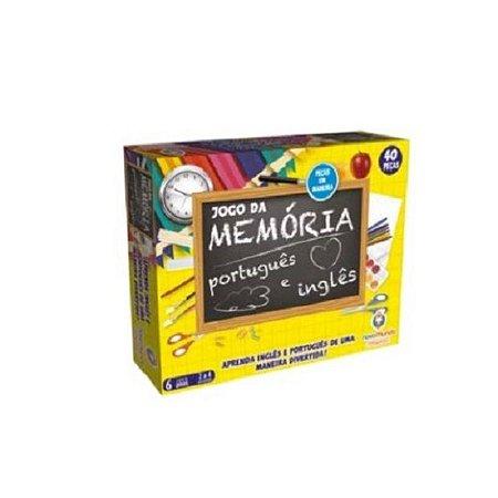 Jogo Da Memória - Português - Inglês - 48 Peças