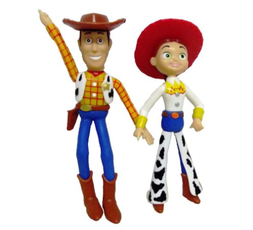 Woody e Jessie - Bonecos De Vinil Toy Story