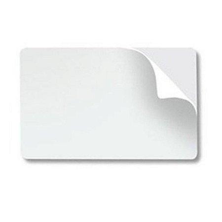 Cartão PVC Branco CR80 Adesivado 0,46 mm para Termo-transferência