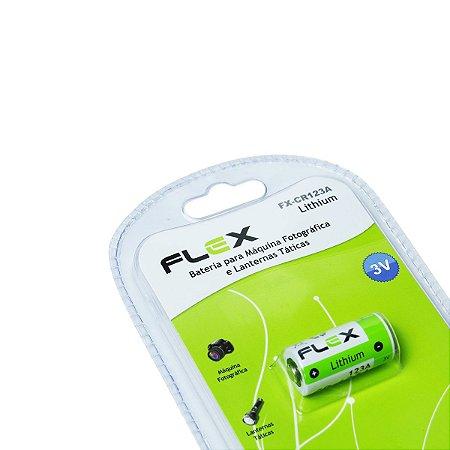 Bateria Flex Lithium FX-CR123A 3V