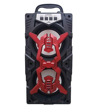 Caixa de Som Grasep D-BH4205 Vermelha