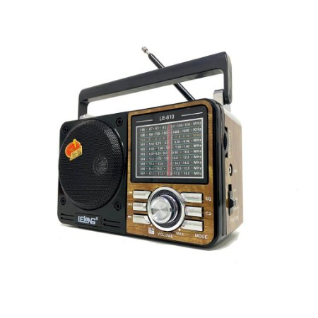 Rádio Lelong LE-610 3 Faixas FM/AM/SW1-7  Marrom
