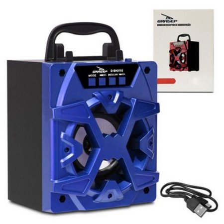 Caixa de Som Portátil Grasep D-BH3102 Azul