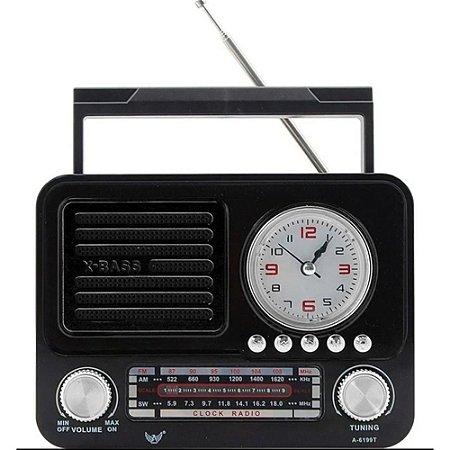 Rádio Portátil Altomex A-6199T FM/AM/SW Preto
