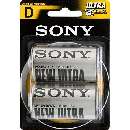 Pilha D Sony New Ultra Grande com 2 unidade
