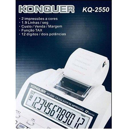 Calculadora 12 Digitos Konquer  Kq-2550