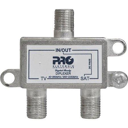 Diplexer Proeletronic PQDI-6500 VHF+UHF
