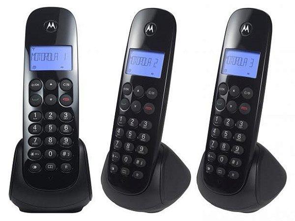 TELEFONE MOTO700 MDR3 MOTOROLA 2 RAMAIS PTO S/ FIO