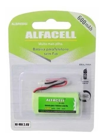 BATERIA P/TELEFONE S/FIO ALBR65002 ALFACELL 600MAH