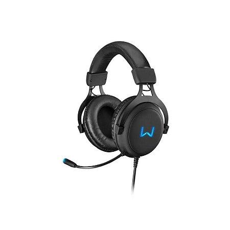 Fone Headset Gamer Multilaser PH258 Preto e Azul