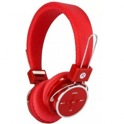 Fone de Ouvido Headset Knup KP-367 Bt Vermelho