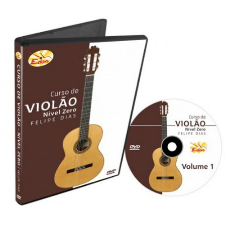 Dvd Vídeo Aula Curso de Violão Nível Zero Vol.1