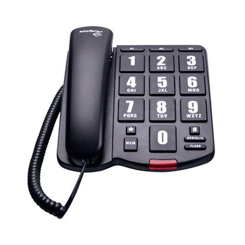 Telefone Intelbras Com Fio Tok Fácil Preto