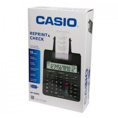 Calculadora Impressão com Fonte Casio HR-100RC
