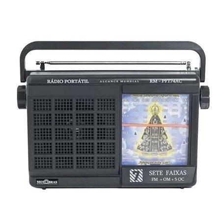 Rádio RM-PFT74AC Motobras 7 Faixas AM/FM/AP 5W