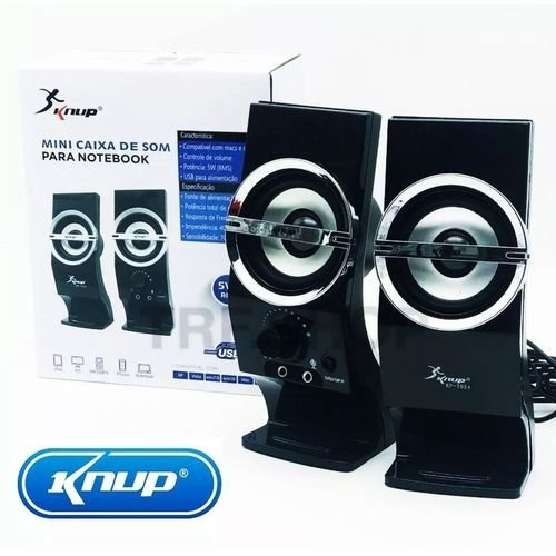 CAIXA DE SOM KP-7024 KNUP P/PC/NOTEBOOK 12W