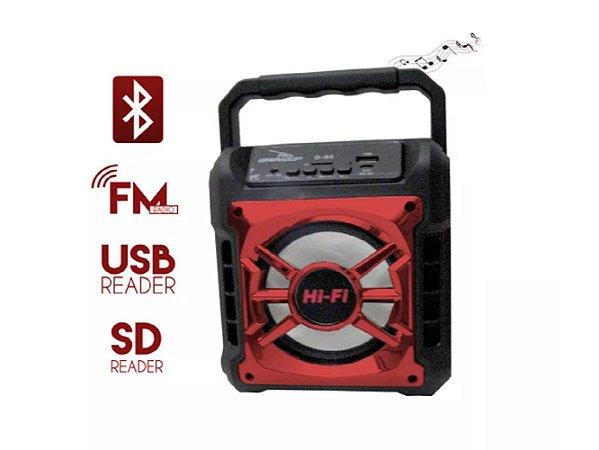 Caixa de Som Bluetooth Grasep D-S5 Vermelha 10W