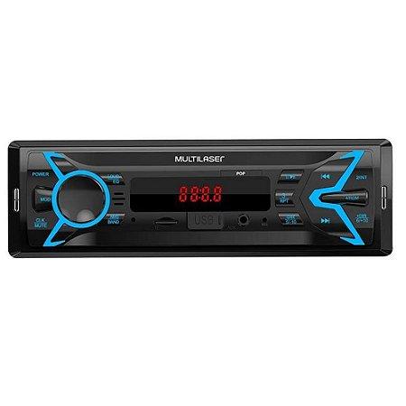 AUTO RADIO P3335 MULTILASER USB/SD+AUX
