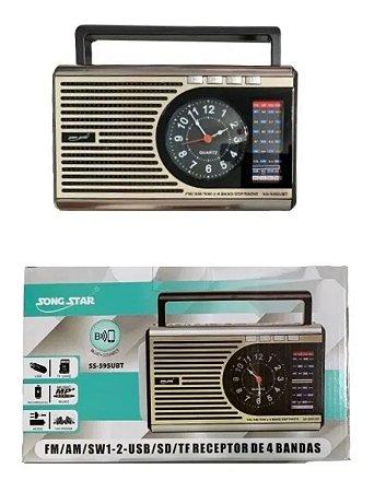 RADIO SS-595BT SONG STAR 3 FAIXAS AM/FM 3W