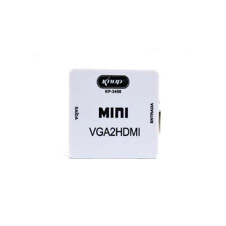Conversor de Vga para Hdmi Knup Kp-3466