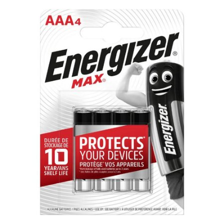 Pilha Alcalina Energizer Max AAABP4 AAA com 4