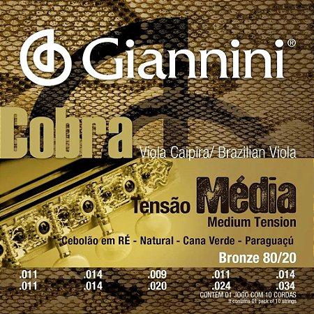 Encordoamento Aço para Viola Cobra CV82M Giannini