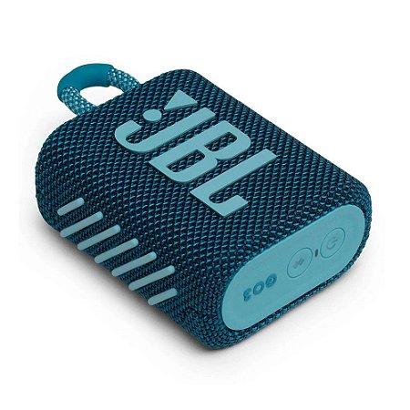 Caixa de Som Bluetooth JBL GO 3 Azul 4W